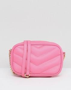 Стеганая сумка через плечо ASOS - Розовый