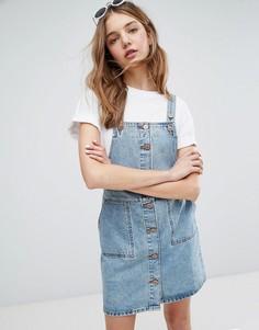 Джинсовое платье-комбинезон Monki - Синий