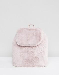 Рюкзак с искусственным мехом LAMODA - Серый