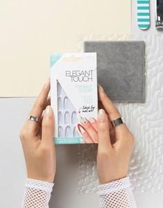 Прозрачные накладные ногти с острыми кончиками Elegant Touch Totally Bare - Прозрачный