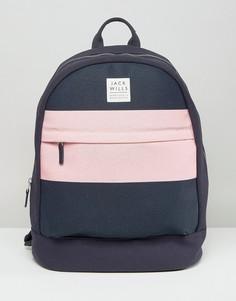 Темно-синий рюкзак с розовой вставкой Jack Wills - Мульти