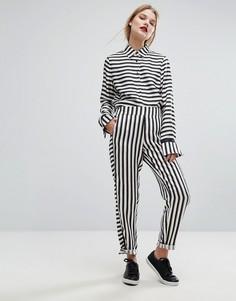 Атласные брюки в полоску Gestuz Aggie - Мульти