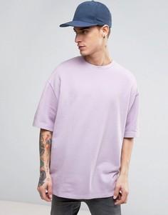 Фиолетовый оversizе-свитшот с короткими рукавами ASOS - Фиолетовый