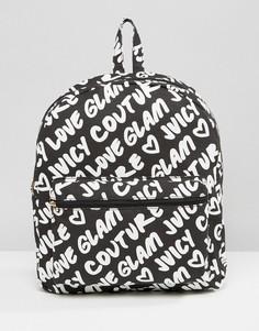 Рюкзак с граффити Juicy Couture - Черный