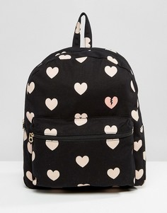 Рюкзак с сердечками Juicy Couture Pacific - Черный