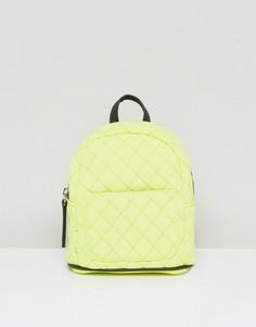 Миниатюрный стеганый рюкзак неонового цвета New Look - Желтый