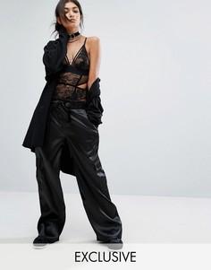 Атласные брюки карго с широкими штанинами Bones - Черный