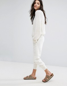 Спортивные штаны скинни с логотипом Abercrombie & Fitch - Белый