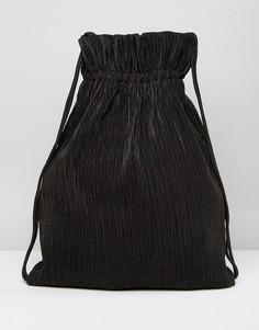 Черный рюкзак на шнурке Weekday - Черный