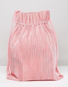 Розовый рюкзак на шнурке Weekday - Розовый