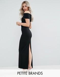 Платье макси с широким вырезом City Goddess Petite - Черный