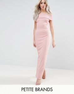 Платье макси с широким вырезом City Goddess Petite - Розовый