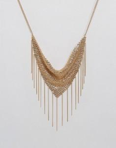 Ожерелье из цепочек ASOS - Золотой