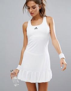 Теннисное платье с шортами adidas - Белый