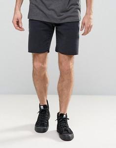 Джинсовые шорты слим с необработанным краем Selected Homme - Черный