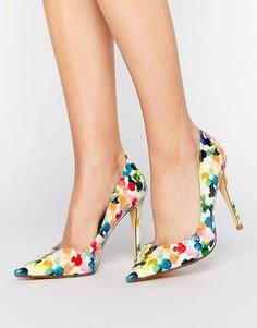 Туфли-лодочки с цветочным принтом Dune - Мульти