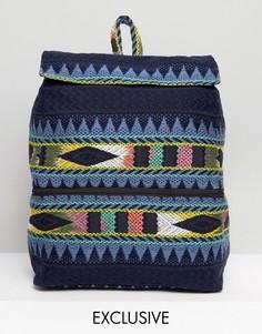 Прямоугольный фестивальный рюкзак Reclaimed Vintage Inspired - Мульти