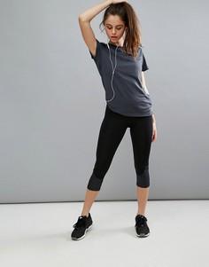 Тренировочные леггинсы длиной 3/4 из ткани Climalite от adidas - Черный