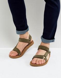 Замшевые сандалии Teva Original Universal - Зеленый