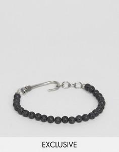 Черный браслет из бусин с застежкой-крючком Seven London - Черный
