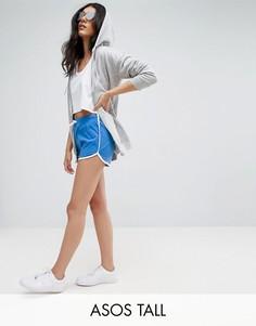 Классические шорты для бега с контрастным кантом ASOS TALL - Синий