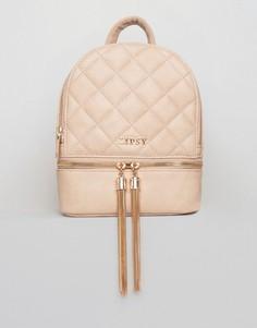 Стеганый рюкзак мини с кисточками Lipsy - Розовый