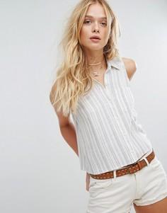 Классическая укороченная рубашка Hollister - Белый