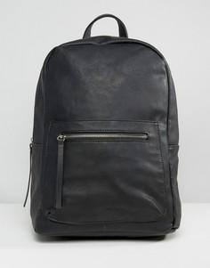 Рюкзак в минималистском стиле Pieces Savoy - Черный