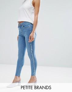 Зауженные джинсы с отделкой New Look Petite - Синий