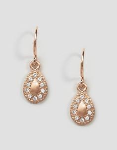 Серьги с покрытием из розового золота с камнями Pilgrim - Золотой