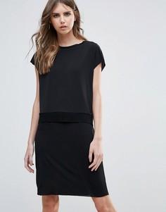 Двухслойное цельнокройное платье Minimum - Черный