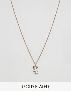 Ожерелье с подвеской-багеткой Ted Baker - Золотой