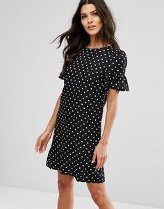 Платье в горошек Paper Dolls - Черный