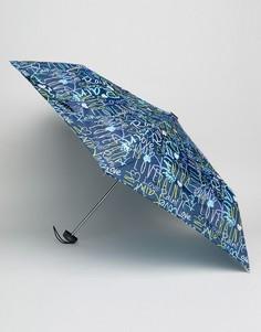 Темно-синий зонт с принтом граффити Totes - Синий
