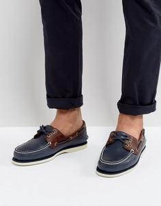Классические кожаные мокасины Timberland - Синий