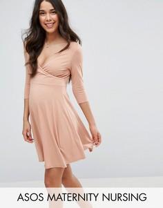 Платье с запахом для беременных ASOS Maternity NURSING - Розовый
