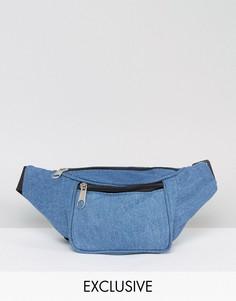 Джинсовая сумка-кошелек на пояс Reclaimed Vintage Inspired - Синий