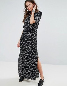 Плиссированное платье в горошек Glamorous - Черный