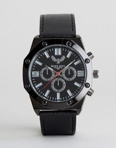 Черные часы с дополнительными циферблатами Brave Soul - Черный