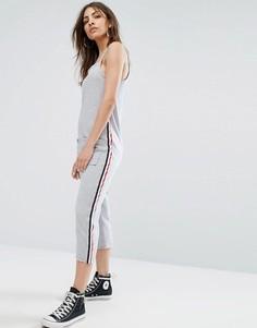 Свободный комбинезон на тонких бретельках с полосками в спортивном стиле Daisy Street - Серый