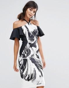 Цельнокройное платье-халтер Coast Waldorf - Мульти
