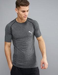Серая футболка Puma Running Evoknit 59063201 - Серый