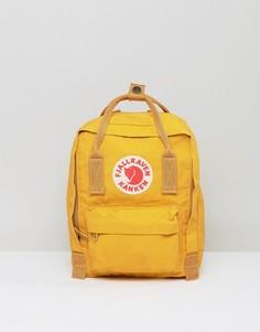 Маленький рюкзак горчичного цвета Fjallraven Kanken - Желтый
