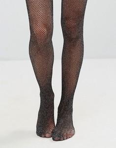 Сетчатые колготки с блестками Gipsy - Черный