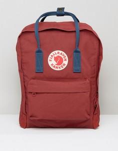 Бордовый рюкзак с темно-синими лямками Fjallraven Kanken - Красный