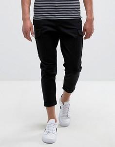 Свободные брюки карго Selected Homme - Черный