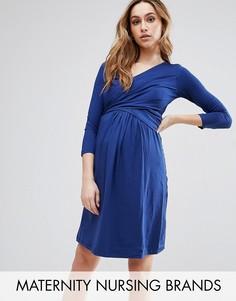 Платье для кормящих Isabella Oliver Avebury - Темно-синий