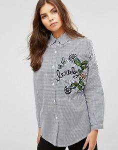 Рубашка с вышивкой Ax Paris - Синий