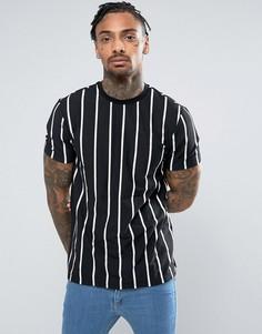 Черная футболка с полосками New Look - Черный