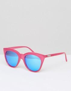 Большие солнцезащитные очки кошачий глаз Le Specs Hot - Розовый